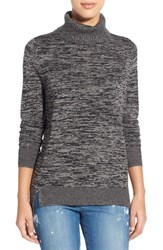 Women's Halogen Marled Merino Blend Turtleneck Sweater