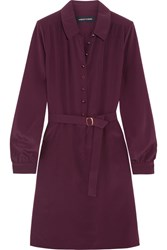 Vanessa Seward Cherry Silk Mini Dress Plum