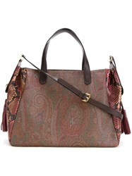 Etro Paisley Tote Red