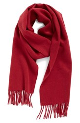 Nordstrom Women's Solid Woven Cashmere Scarf Burgundy Bud