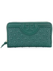 Tory Burch 'Fleming' Wallet Green