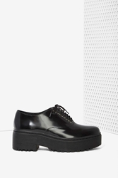 Nasty Gal Jeffrey Campbell Baird Leather Lug Shoe