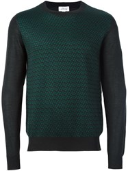 Brioni Striped Intarsia Jumper Green
