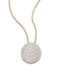 Phillips House 14K Yellow Gold And Diamond Infinity Necklace