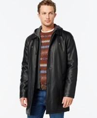 Tommy Hilfiger Long Faux Leather Jacket Black
