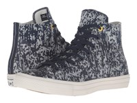 Converse Chuck Taylor All Star Ii Translucent Rubber Hi Obsidian Buff Bitter Lemon Lace Up Casual Shoes Blue