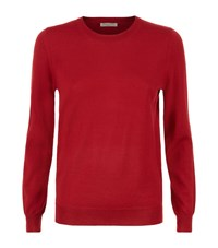 Burberry Merino Wool Elbow Patch Sweater Female Red