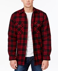 Club Room Plaid Button Front Shirt Jacket Only At Macy's Deep Black