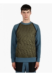 Christopher Raeburn Men's Khaki Quilted Raglan Sweatshirt