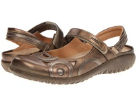 Naot Footwear Rongo Brass Leather Pewter Leather Women's Hook And Loop Shoes Bronze