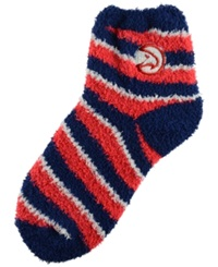 For Bare Feet Atlanta Hawks Sleep Soft Candy Striped Socks Blue White