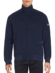 Ben Sherman Zip Up Funnel Neck Sweater Navy Blazer