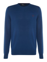 Fred Perry Classic Crew Neck Sweater Blue
