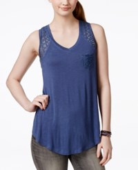American Rag Lace Trim High Low Tank Top Only At Macy's