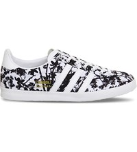 Adidas Gazelle Og Floral Print Woven Trainers White Black Floral