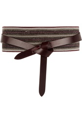 Isabel Marant Holt Woven And Leather Belt
