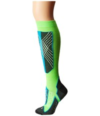 Spyder Sport Merino Sock Green Flash Riviera White Women's Knee High Socks Shoes Multi