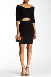 Blvd Textured Mini Skirt Black