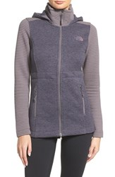The North Face Women's 'Indi' Fleece Jacket Rabbit Grey Rabbit Grey