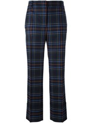 Cedric Charlier Plaid Check Trousers Blue