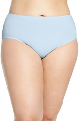 Nordstrom Plus Size Women's Lingerie Seamless Briefs Blue Cashmere