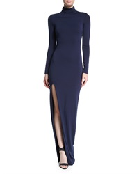 Elizabeth And James Lana Turtleneck Fitted Dress Navy