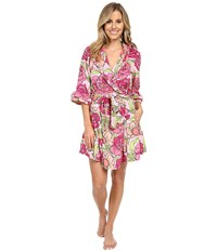 Betsey Johnson Vintage Terry Robe Boho Poppy Pink Women's Robe