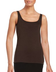 Lord And Taylor Iconic Slim Fit Tank Black Coffee