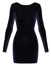 Missguided Summer Dress Navy Dark Blue