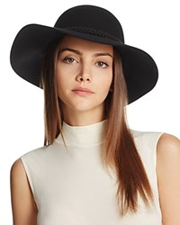August Accessories It Girl Floppy Wool Hat Black