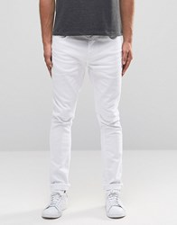 Selected Homme Jeans In Skinny Fit White Denim White