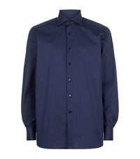 Stefano Ricci Textured Squares Shirt Male Navy