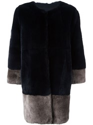 Manzoni 24 Rabbit Fur Coat Blue