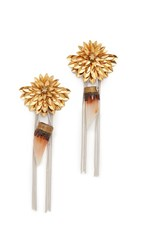 Deepa Gurnani Ginny Earrings Gold
