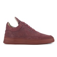 Filling Pieces Men's Monotone Stripe Low Top Trainers Maroon