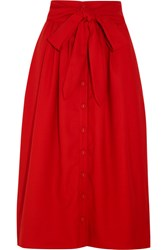 Sea Wool Pique Skirt Red