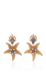 Dolce And Gabbana Starfish Earrings Gold