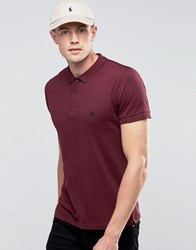 French Connection Short Sleeve Polo Shirt Red