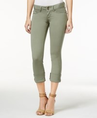 Hudson Jeans Ginny Cuffed Skinny Olive Wash Jeans Sun Faded Olive