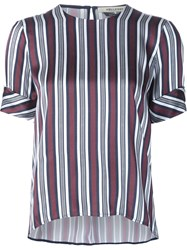 Hellessy Striped Blouse Red