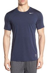 Nike Men's 'Pro Cool Compression' Fitted Dri Fit T Shirt Obsidian Dark Grey White