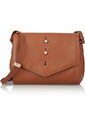 Thakoon Downing Leather Shoulder Bag Brown