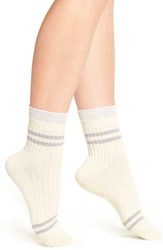 Urban Outfitters Women's Free People 'Windsor' Ankle Socks Ivory Combo
