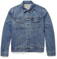 A.P.C. Washed Denim Jacket Blue