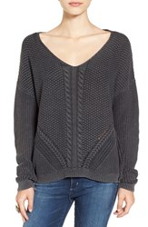 Women's Bp. V Neck Cable Knit Pullover