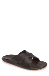 Olukai 'Punono' Slide Sandal Men Black Black