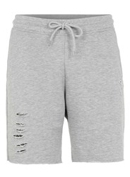 Topman Grey Ripped Jersey Shorts