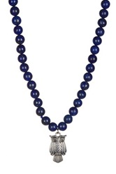 Diana Ciler Jewelry Sterling Silver Lapis Beaded Owl Necklace Blue