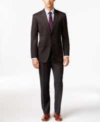 Tommy Hilfiger Slim Fit Solid Charcoal Suit