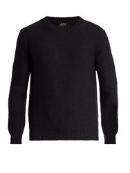 A.P.C. Wallace Crew Neck Wool Sweater Navy